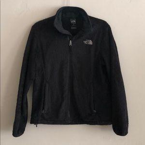 The North Face size medium jacket. Fuzzy black